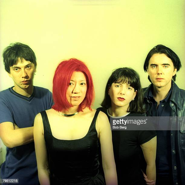 English rock band Lush bassist Phil King vocalist/guitaristMiki Berenyi guitarist Emma Anderson and drummer Chris Acland pose for a July 1996...