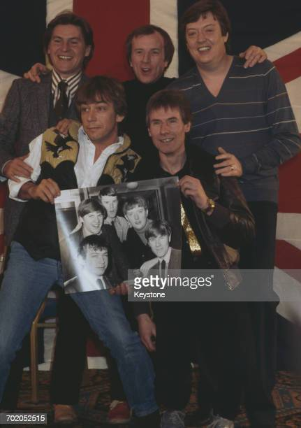 English rock band The Animals reform for a world tour Grosvenor House London 15th June 1983 From left to right they are keyboard player Alan Price...