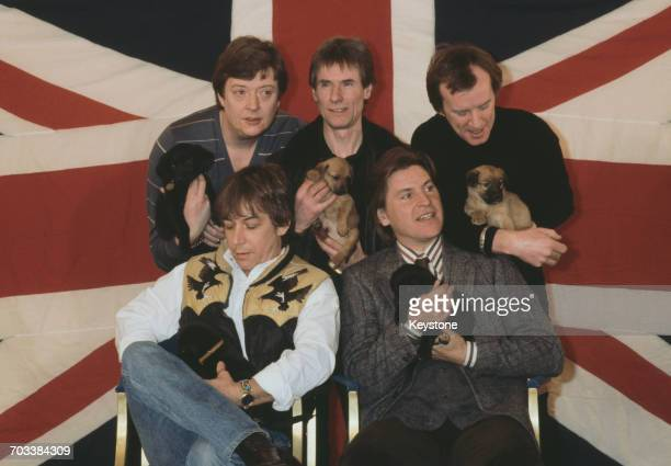English rock band The Animals reform for a world tour Grosvenor House London 15th June 1983 Clockwise from back left they are bassist Chas Chandler...