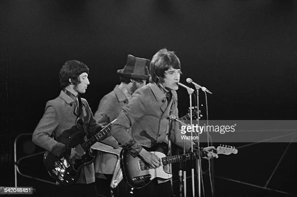 English rock band The Kinks perform as part of the 'Daily Express Record Star Show' being held at the Empire Pool Sports Arena Wembley London 16th...
