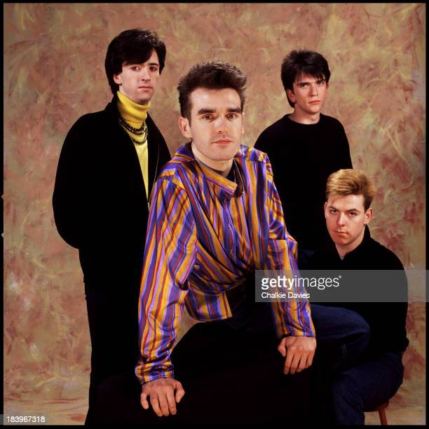 English rock band The Smiths London 1984 Left to right guitarist Johnny Marr singer Morrissey drummer Mike Joyce bassist Andy Rourke