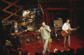 English rock band The Smiths perform live on stage 1984