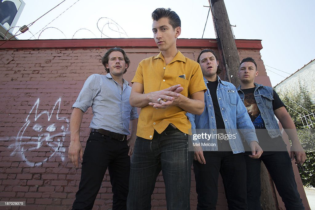 English rock bank <a gi-track='captionPersonalityLinkClicked' href=/galleries/search?phrase=Arctic+Monkeys&family=editorial&specificpeople=274715 ng-click='$event.stopPropagation()'>Arctic Monkeys</a> is photographed for Los Angeles Times on August 12, 2013 in Hollywood, California. PUBLISHED IMAGE.