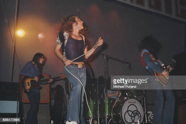 English rock group Led Zeppelin performing at the Empire Pool Wembley London 23rd November 1971 Left to right John Paul Jones Robert Plant John...