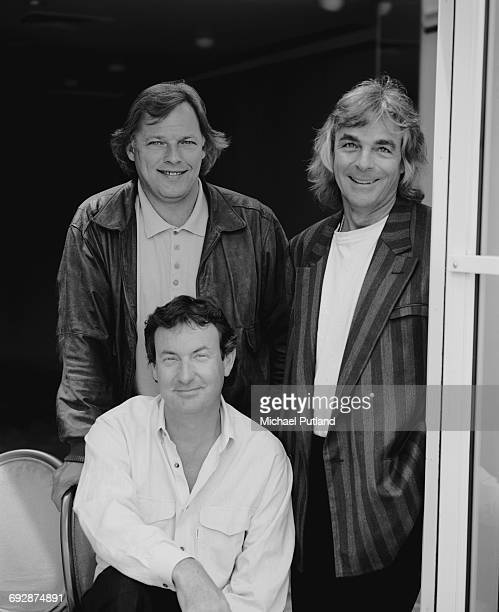 English rock group Pink Floyd in New York May 1988 Clockwise from top left guitarist Dave Gilmour keyboard player Richard Wright and drummer Nick...