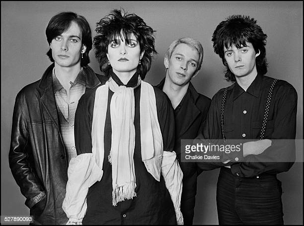 English rock group Siouxsie and the Banshees London 1979 Left to right guitarist John McKay singer Siouxsie Sioux bassist Steve Severin and drummer...