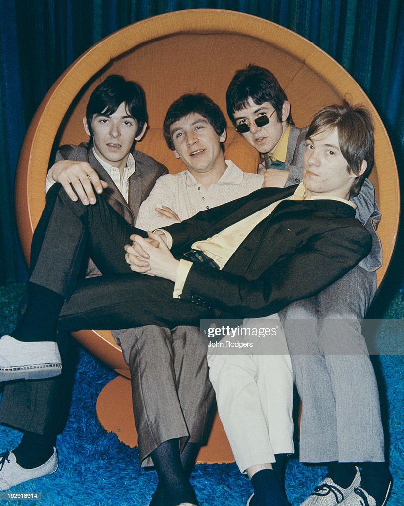 English rock group Small Faces, UK, 1966. Left to right: Ian McLagan, Kenney Jones, Ronnie Lane (1946 - 1997) and Steve Marriott (1947 - 1991).