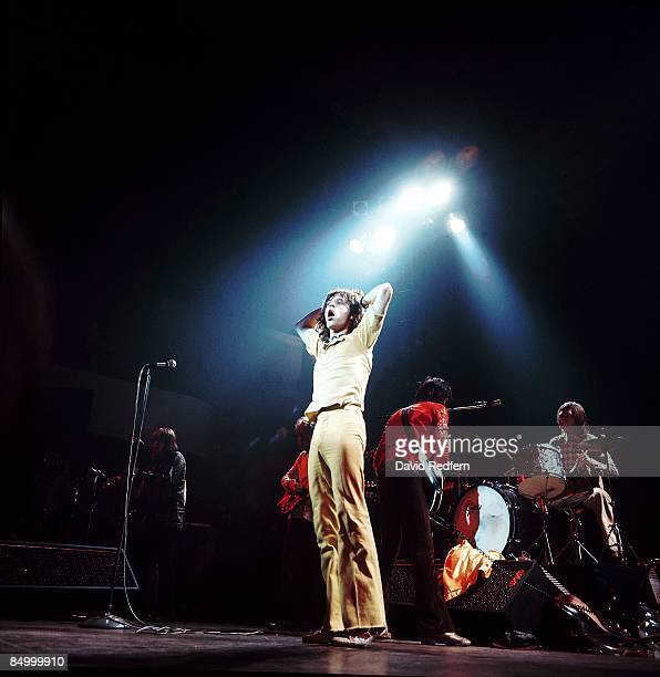 HALL Photo of Mick JAGGER and ROLLING STONES LR Mick Taylor Mick Jagger Keith Richards Charlie Watts performing live onstage