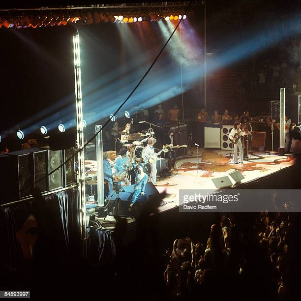 POOL Photo of ROLLING STONES Mick Jagger Bobby Keys Charlie Watts Mick Taylor Keith Richards Bill Wyman performing live onstage