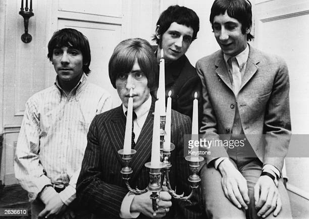 English rock group The Who during their 1966 German/Swiss tour from left to right drummer Keith Moon Roger Daltrey John Entwistle and Pete Townshend