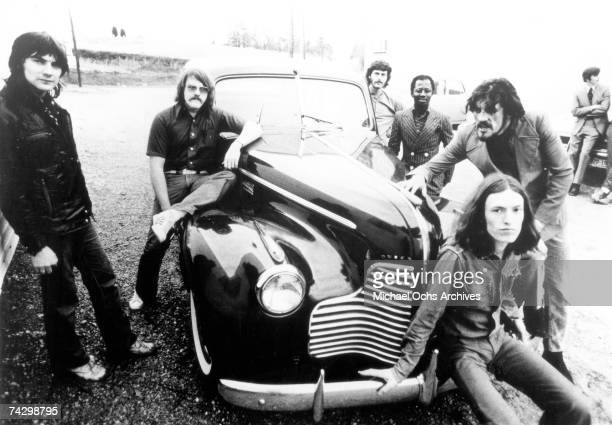 English rock group Traffic on tour in Jamaica with Muscle Shoals session musicians The Swampers in November 1972