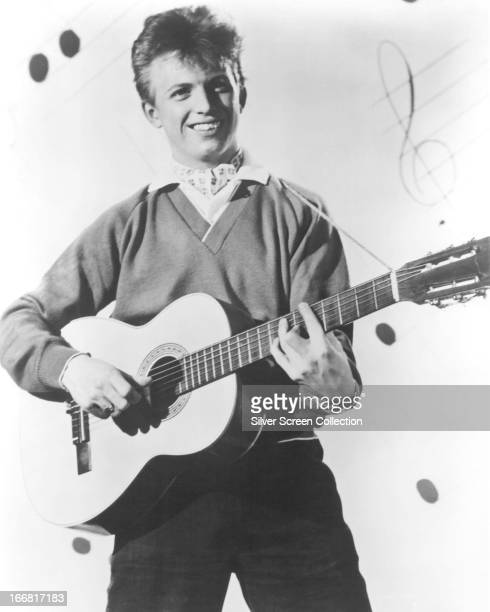 English rock 'n' roll singer and actor Tommy Steele in a promotional portrait for his first film 'The Tommy Steele Story' aka 'Rock Around The World'...