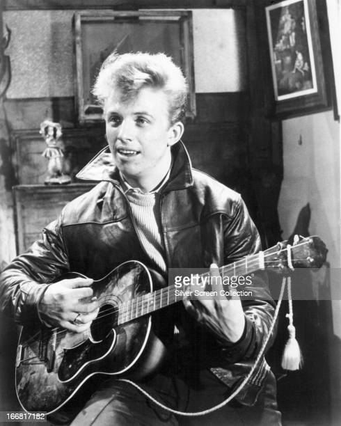 English rock 'n' roll singer and actor Tommy Steele in an early film role circa 1957