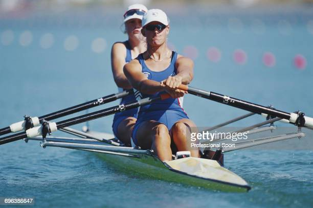 English rowers Frances Houghton and Sarah Winckless pictured in action during competition for the Great Britain team to reach the finals of the...
