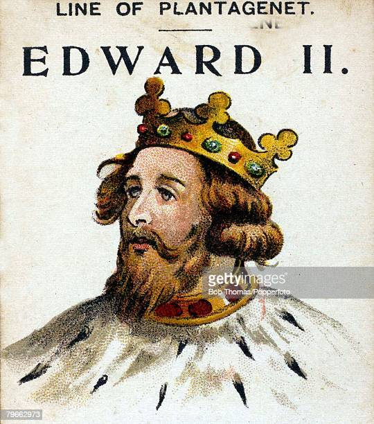 English Royalty Illustration King Edward II King of England During his reign the English were defeated by the Scots at Bannockburn Edward was...