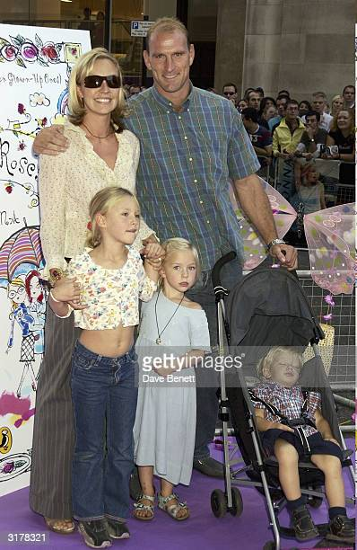 English rugby player Lawrence De'Laglio and his family arrive for the launch of Madonna's new book 'English Roses' where she read some of her book to...