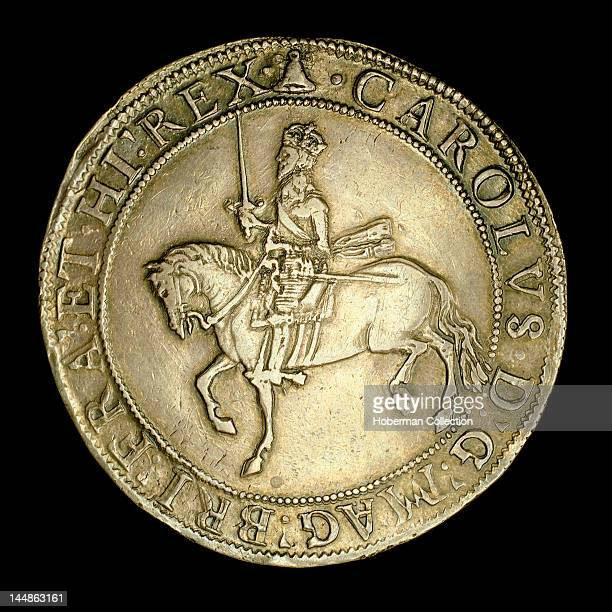 English Silver half crown c 1644 Charles I
