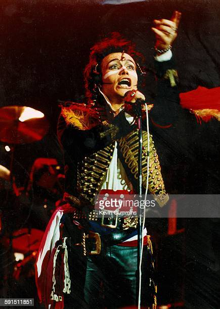English singer Adam Ant performing with new wave band Adam and the Ants at the Manchester Apollo 29th March 1981