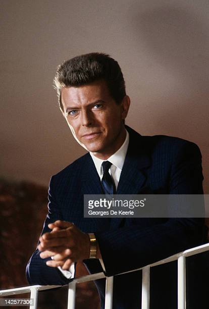 English singer and actor David Bowie on the set of 'Absolute Beginners' directed by Julien Temple UK May 1985