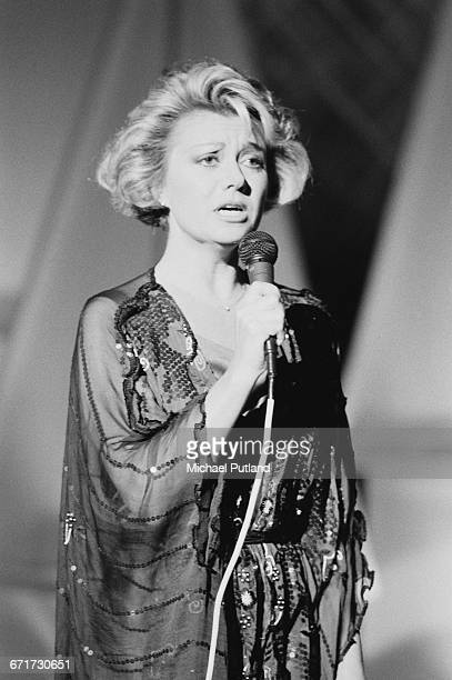 English singer and actress Elaine Paige performing December 1984