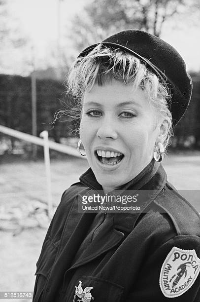 English singer and actress Hazel O'Connor posed at the Lawn Tennis Association in Wimbledon on 8th May 1986