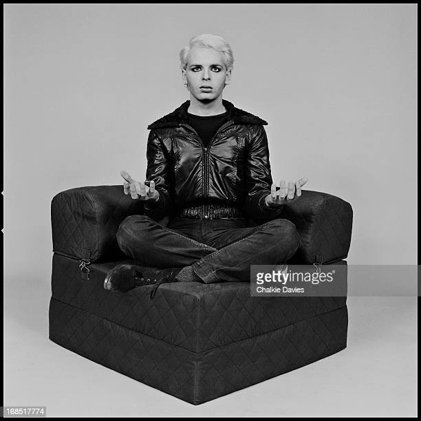 English singer and musician Gary Numan photographed in a meditative pose London 1979