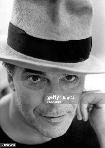 English singer and songwriter Ian Dury backstage before appearing as the narrator in Jim Cartwright's play 'Road' at the Royal Court Theatre London...