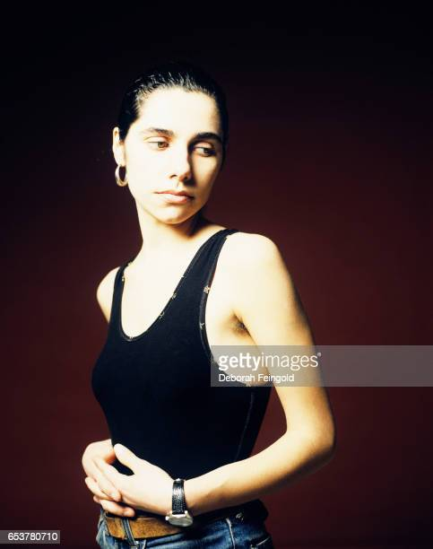 English singer and songwriter PJ Harvey poses for a portrait in February 1993 in New York City New York