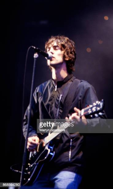 English singer and songwriter Richard Ashcroft of The Verve performs on stage at Haigh Hall Wigan United Kingdom 24th May 1998