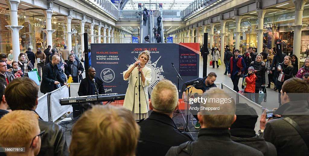 English singer <a gi-track='captionPersonalityLinkClicked' href=/galleries/search?phrase=Bo+Bruce&family=editorial&specificpeople=6321939 ng-click='$event.stopPropagation()'>Bo Bruce</a> performs at Station Sessions Festival 2013 at St Pancras Station on April 8, 2013 in London, England.