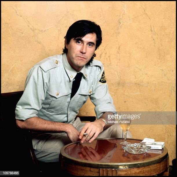English singer Bryan Ferry of Roxy Music poses at the Montcalm Hotel London 31st October 1975