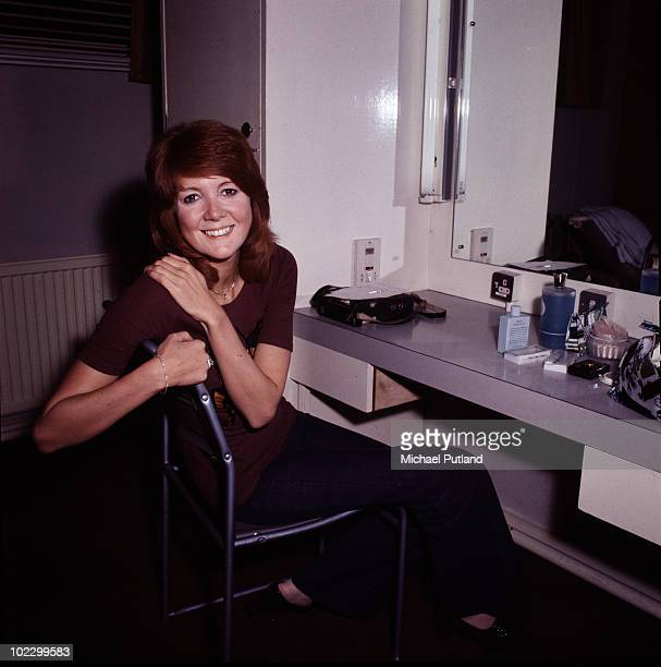 English singer Cilla Black in her dressing room at the BBC TV studios in London9th October 1970