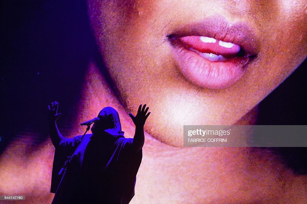 English singer, composer, and visual artist Anohni performs during the 50th edition of the Montreux Jazz Festival on July 1, 2016 in Montreux. The 50th edition of the Montreux Jazz Festival starts with big names such as Neil Young and PJ Harvey set to perform at this year's anniversary event. / AFP / FABRICE