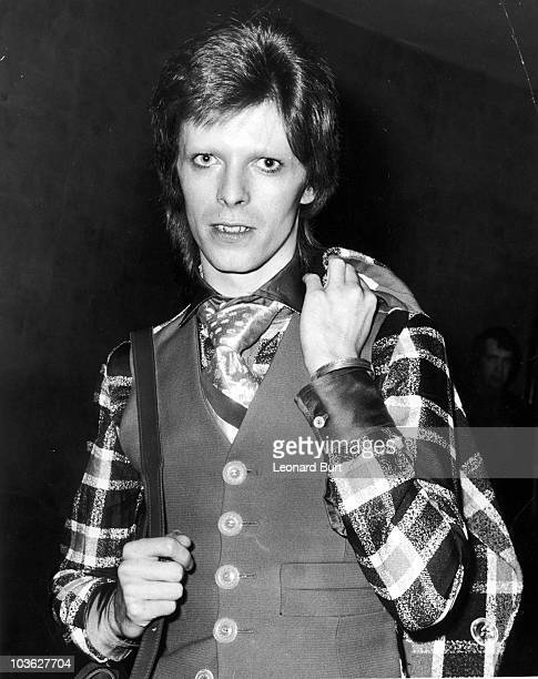English singer David Bowie at the Empire cinema Leicester Square London for the premiere of 'Hitler The Last Ten Days' directed by Ennio De Concini...