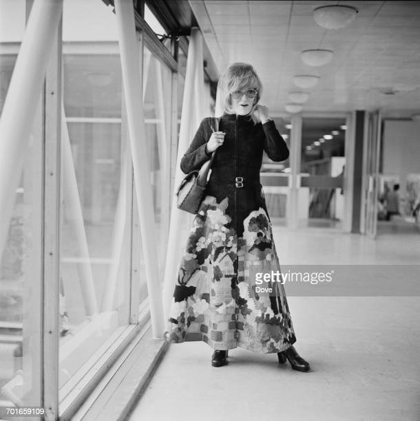 English singer Dusty Springfield at London Airport UK 27th November 1971