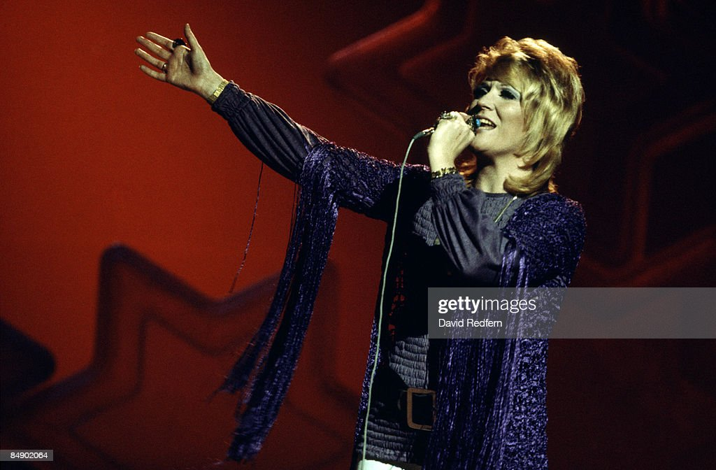 Photo of Dusty SPRINGFIELD; Dusty Springfield performing on tv show