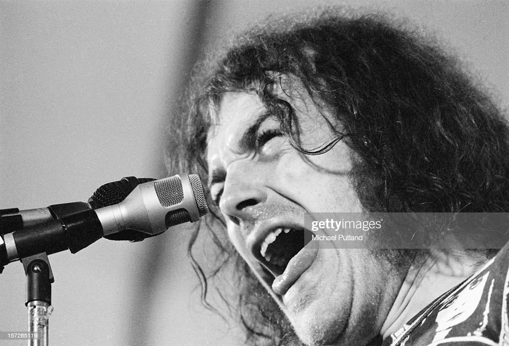 English singer Joe Cocker performing at the Crystal Palace Garden Party 3 at Crystal Palace Bowl, London, 3rd June 1972.