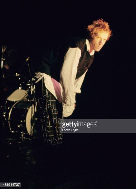 English singer John Lydon formerly of the Sex Pistols and Public Image Ltd on stage circa 1985