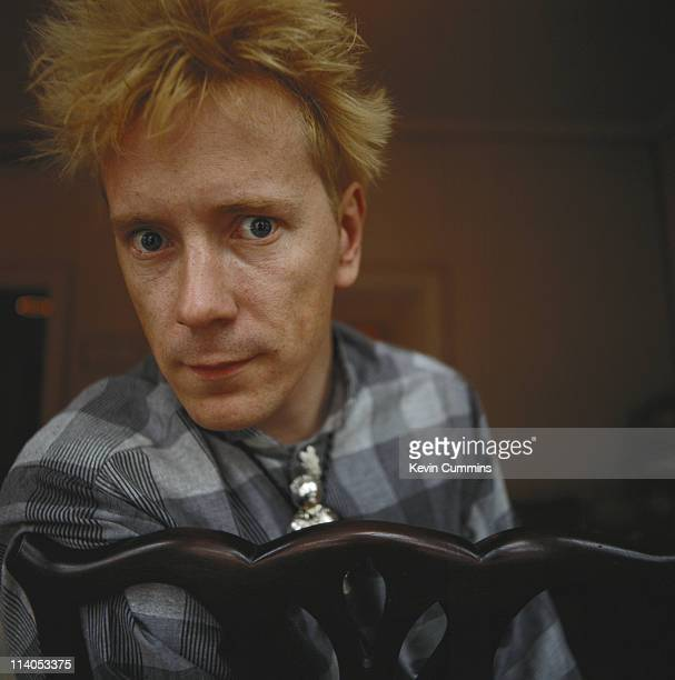 English singer John Lydon of Public Image Ltd and the Sex Pistols 17th April 1989