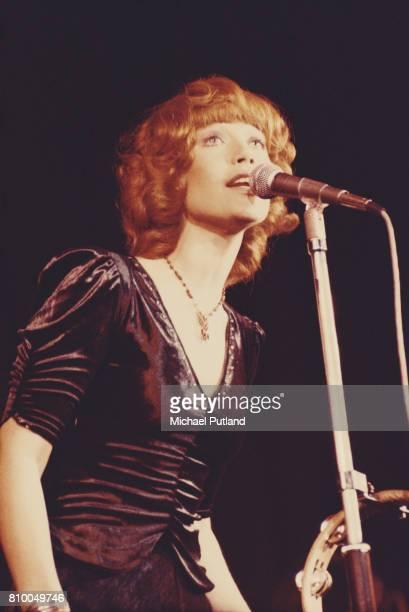 English singer Kiki Dee performing at Elton John's Christmas show at the Hammersmith Odeon London 21st December 1973