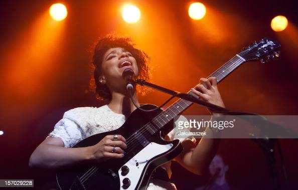 English singer Lianne La Havas performs live during a concert at the Postbahnhof on November 27 2012 in Berlin Germany