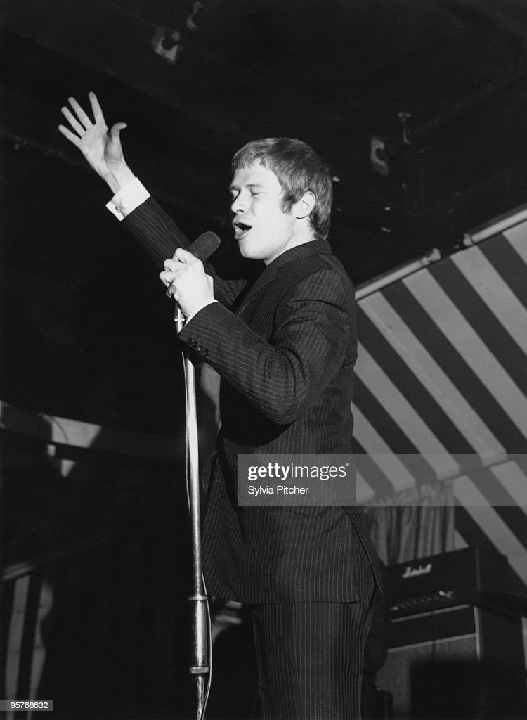 English singer Long John Baldry performing with Steampacket at the Marquee Club London 1965