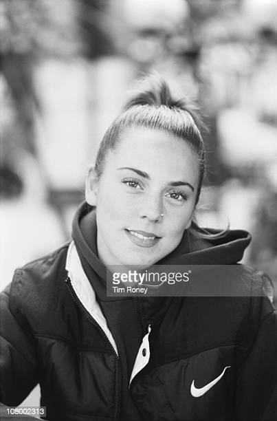 English singer Melanie Chisholm aka Mel C aka Sporty Spice of the Spice Girls in Paris September 1996