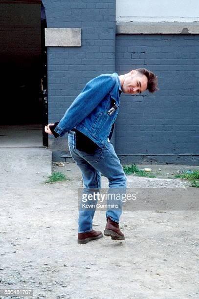 English singer Morrissey in Dublin during his 'Kill Uncle' tour April 1991
