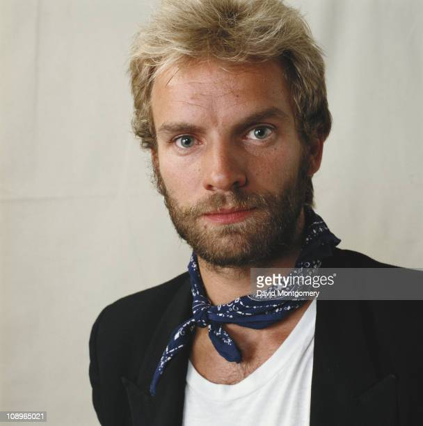 English singer musician and actor Sting attends a performance of 'The Pirates of Penzance' at the Theatre Royal in London July 1982