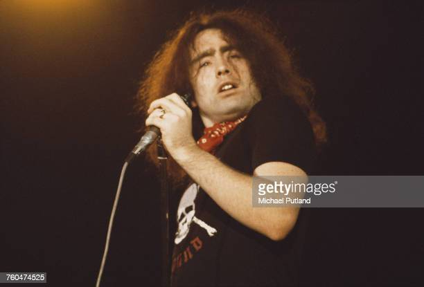 English singer Paul Rodgers performing with rock group Bad Company at The Great British Music Festival Olympia London 2nd January 1976