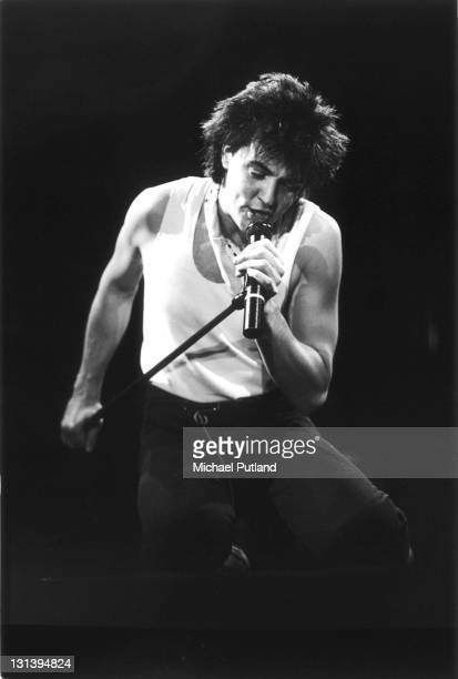 English singer Paul Young performing on one of two nights at Wembley Arena London 5th6th December 1985