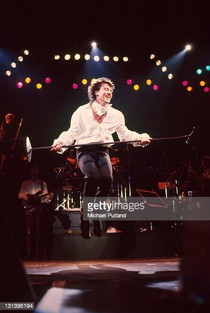 English singer Paul Young performing on one of two nights at Wembley Arena London 5th6th December 1984