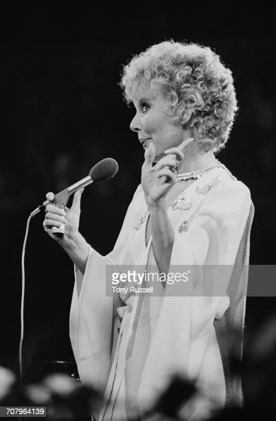 English singer Petula Clark performing a Valentine's Day Concert at the Royal Albert Hall London 14th February 1974 The performance was later...