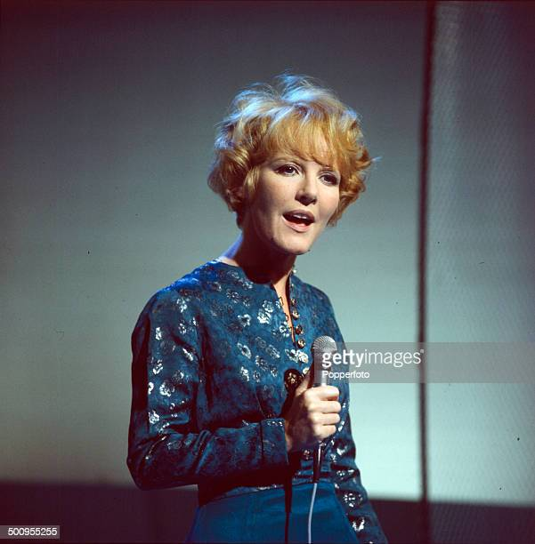 English singer Petula Clark performs on the television series 'Cooperama' in 1966